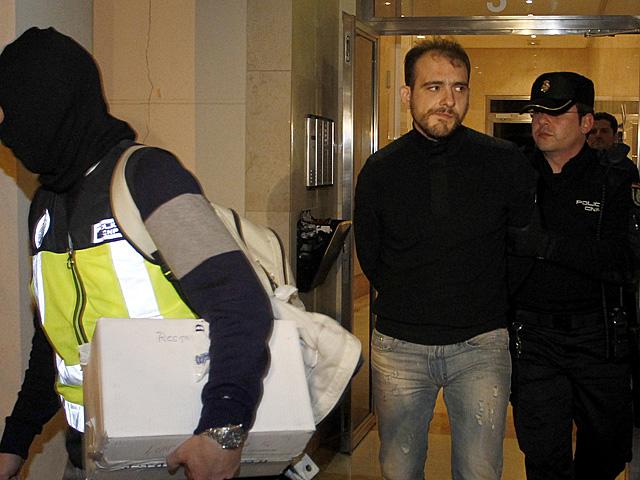 Luka Bojovic en el momento de su detención el 10 de febrero de 2012. | José Cuéllar