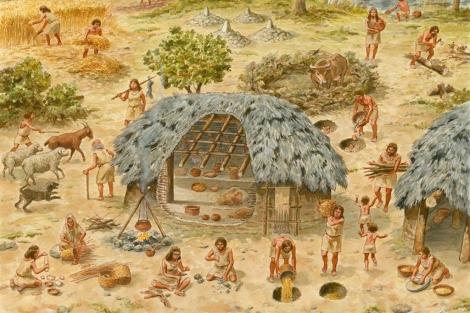 Una de las representaciones pictóricas que explica el trabajo de la mujer en la historia.