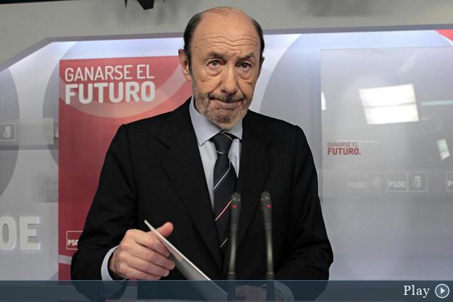 Rubalcaba comparece tras publicarse los sms entre Rajoy y Bárcenas. | Antonio Heredia