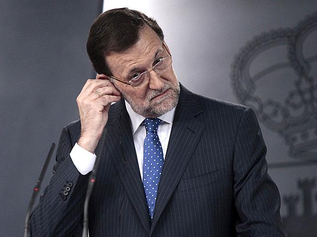 El presidente del Gobierno, Mariano Rajoy, en la rueda de prensa en Moncloa. | Antonio Heredia