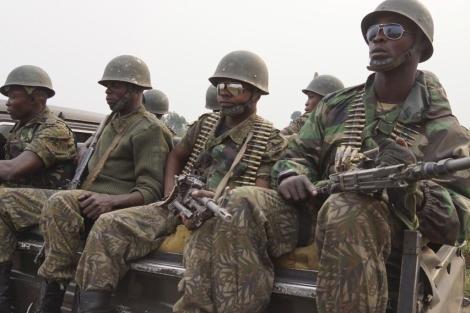 Soldados del grupo rebelde M23.  Reuters