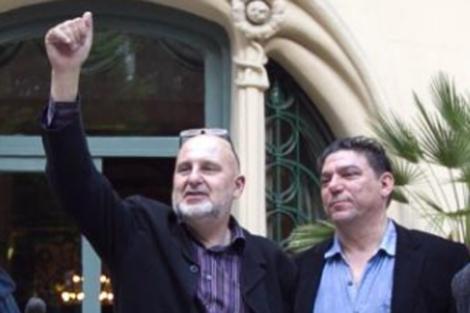 Antón Reixa y Antonio Onetti, nada más ganar las elecciones de 2012, antres de que surgiesen las diferencias entre ambos. | B. Rivas