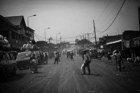 El centro de la ciudad de Goma, ayer.   Alberto Rojas