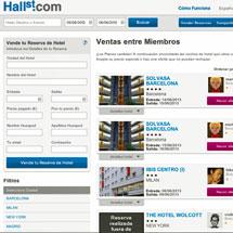Vista de la página web de 'Hall Street'