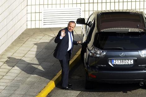 El presidente de Pescanova, esta mañana, al inicio del consejo. | Afp