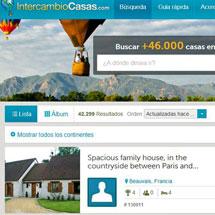 Vista de la página de 'Intercambio de Casas'