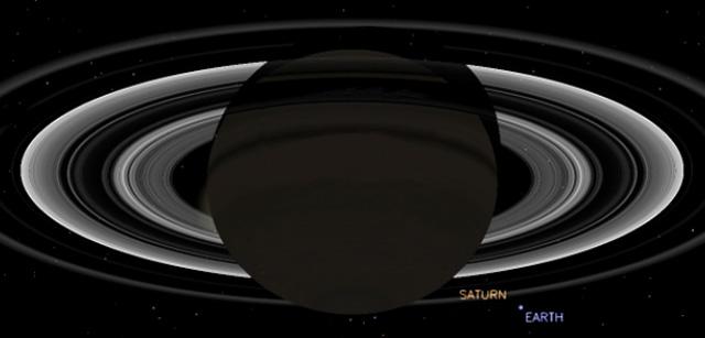 Simulación de cómo se verá la Tierra desde Saturno. | NASA
