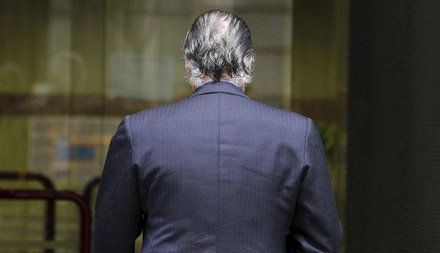 Luis Bárcenas, entrando a declarar en la Audiencia Nacional el pasado mes de mayo. | Sergio González