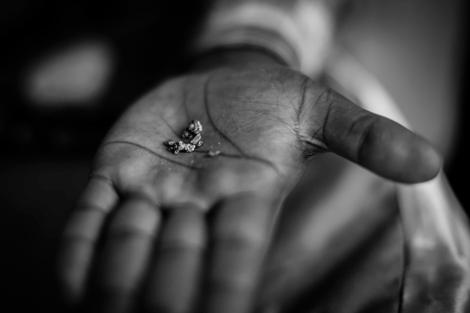 Coltán extraído de las minas cercanas a Goma. | Alberto Rojas