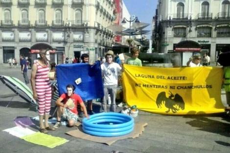 Los ecologistas en la Puerta del Sol. | Ecologistas.