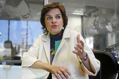 La ya ex diputada del PP valenciano Alicia de Miguel, en una entrevista. | Vicent Bosch