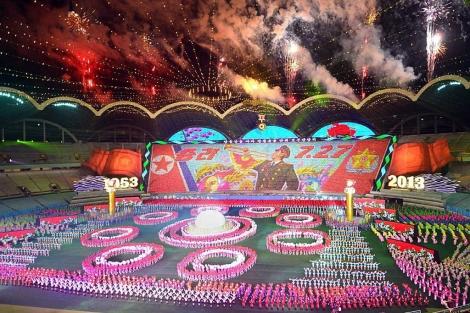 Inauguración del gran festival de masas en Pyongyang. | Efe