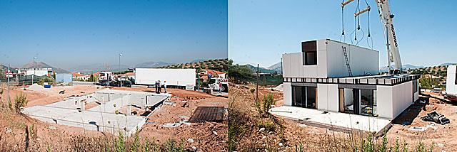 El mismo solar donde se levanta la vivienda, con sólo unas pocas horas de diferencia.. | Jesús G. Hinchado