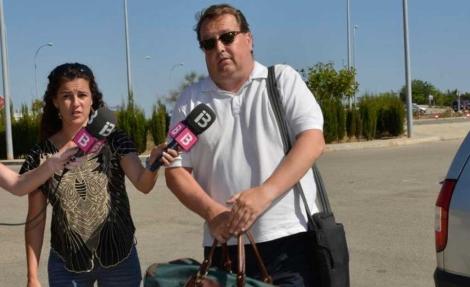 Buils a su llegada a la prisión de Palma. | C.Cladera