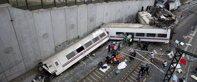 Imagen del estado en el que quedaron los vagones del tren siniestrado. | Reuters