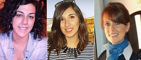 Celtia Uxía Cabido, Eva Pérez Seara y Olga Buitrago.