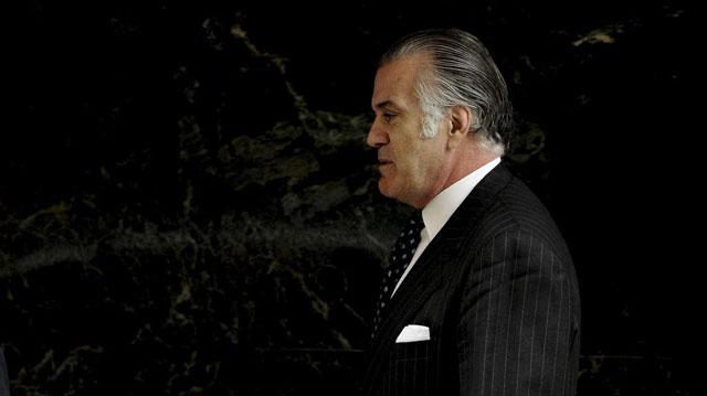 Luis Bárcenas abandona la Audiencia Nacional.| Pedro Armestre (AFP)