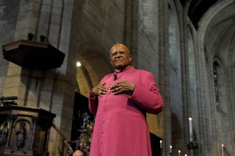 El arzobispo sudafricano y Premio Nobel de la Paz, Desmond Tutu. | Afp