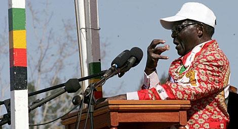 Robert Mugabe, en un mitin de su campaña en Zimbabue