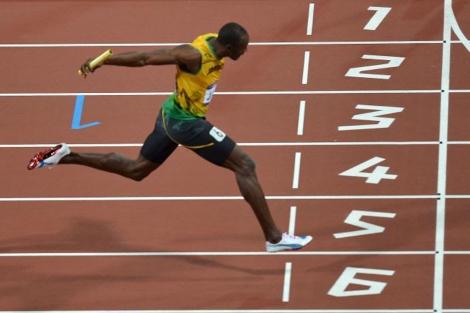 Usain Bolt en los Juegos Olímpicos de Londres 2012.   AFP