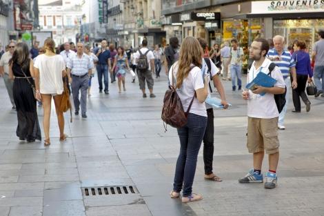 Calle Preciados, Madrid. | El Mundo