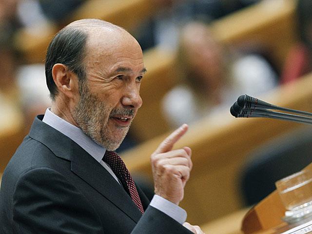 Alfredo Pérez Rubalcaba, en su intervención hoy en el pleno del Congreso.   J.J. Guillén / Efe
