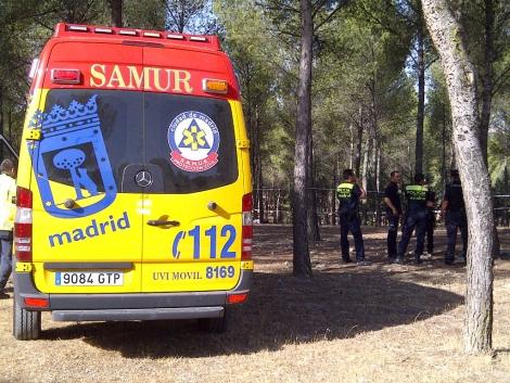 El SAMUR y los agentes policiales en la zona