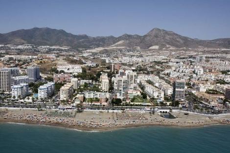 Vista aérea de la costa orientalde Málaga. | E. M.