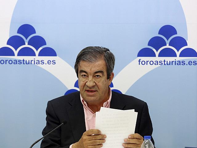 El presidente de Foro, Francisco Álvarez-Cascos. | Alberto Morante / Efe