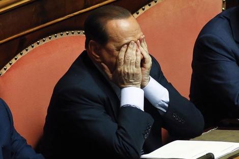 El ex 'premier' italiano Belusconi, en el Senado. | Reuters