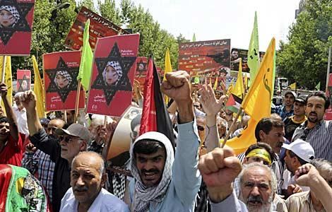 Mnifestantes muestran su apoyo a Palestina en Teherán. | Efe