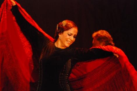 Eva 'La Yerbabuena' durante su actuación.