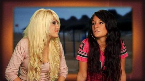 Ylenia y Core, dos de las protagonistas de 'Gandía Shore'.