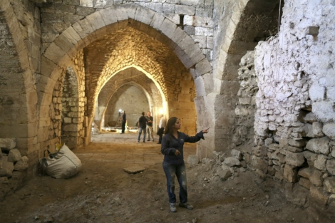 Renee Forestany, directora de la excavación de la Autoridad de Antigüedades de Israel. | EFE