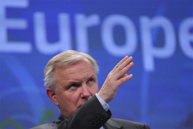 El vicepresidente económico de la Comisión Europea, Olli Rehn.   Efe