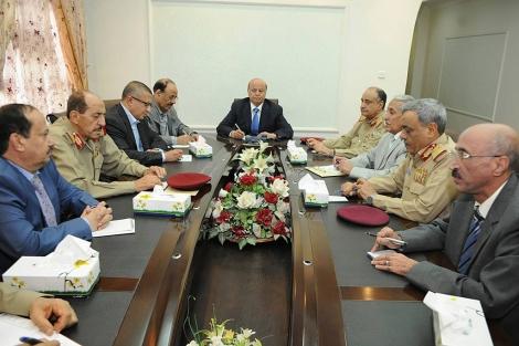 El mandatario de Yemen preside la reunión con la Comsión de Seguridad.  Reuters