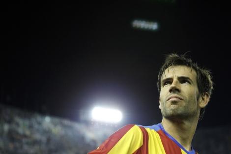 David Albelda, con la camiseta del Valencia. | Vicent Bosch