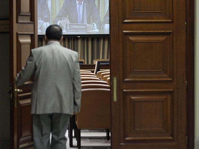 Sala en la que se ha celebrado la sesión de la Comisión de Fomento.   Emilio Naranjo / Efe