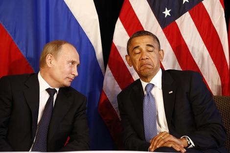 Vladimir Putin y Barack Obama, durante un encuentro en México en 2012. | Reuters
