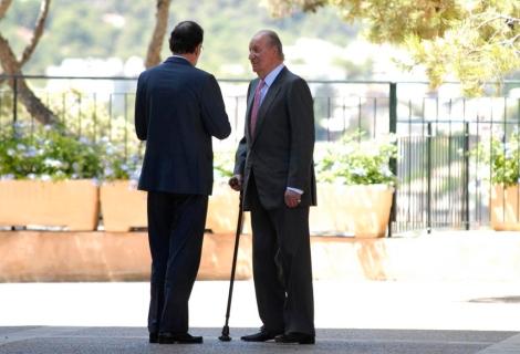 Reunión de el Rey Juan Carlos con el presidente del gobierno Mariano Rajoy. | A.Vera