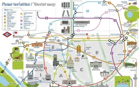 Mapa Turistico De Madrid.Metro Lanza Un Nuevo Plano Turistico Para Fomentar El Uso