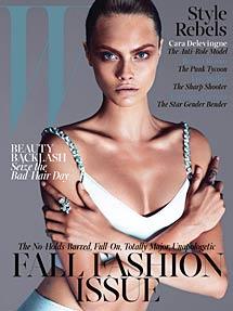Portada de septiembre.   W Magazine