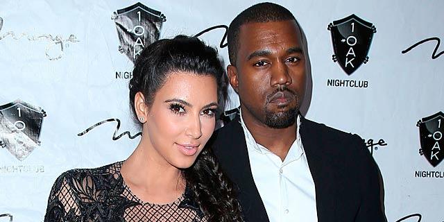 Kim Kardashian y Kanye West en un club en Las Vegas. | Gtres