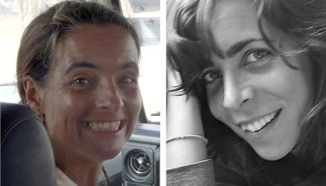 Las dos cooperantes españolas que fueron secuestradas en Kenia y retenidas en Somalia. Efe