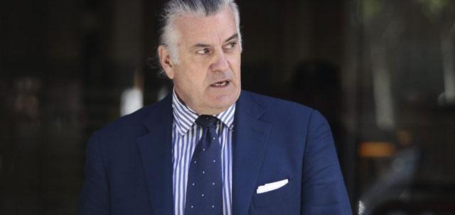 Luis Bárcenas, a su salida de la Audiencia Nacional a mediados de julio. | E. M.