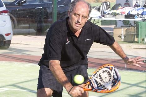 Francisco Camps, durante el torneo celebrado en Gandía. | Benito Pajares