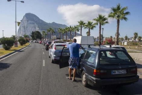 Cola en la frontera entre España y Gibraltar | AFP