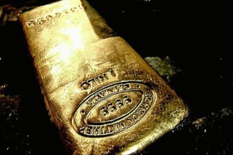 Lingote de oro de un kilo.