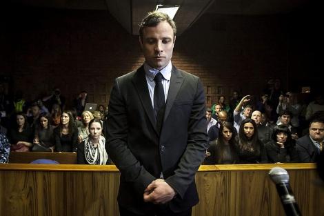 El atleta sudafricano, en el Tribunal de la Magistratura de Pretoria.| Efe