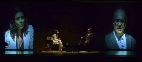 Momento de la representación de 'Desclasificados', de la productora Pentación.